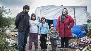 Familia kurda a la Jungla de Calais